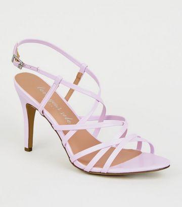 Lilac Patent Strappy Stiletto Heels