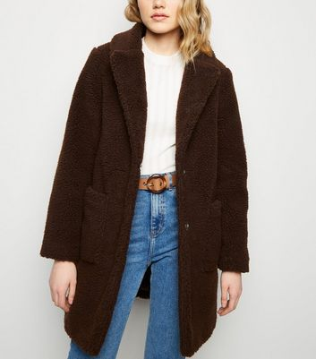 Dark Brown Teddy Coat