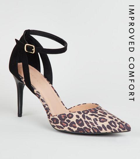 ... Stone Leopard Print 2 Part Court Shoes ... 1d4f954c0956