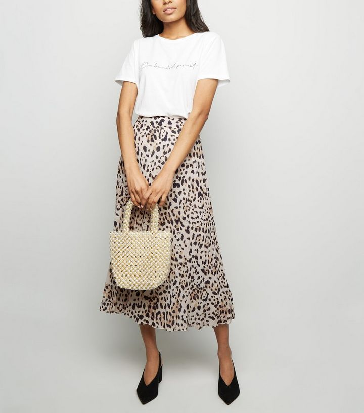 release date discount for sale hot-selling real Petite Brown Leopard Print Pleated Midi Skirt Add to Saved Items Remove  from Saved Items