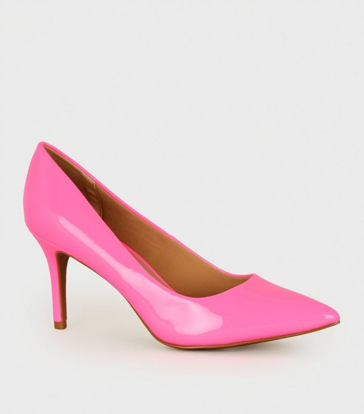 8933107fa89 Bright Pink Patent Pointed Court Shoes Add to Saved Items Remove from Saved  Items