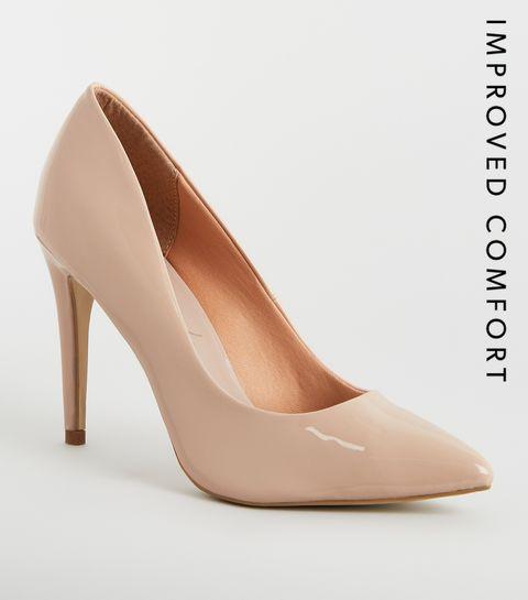 ... Nude Patent Stiletto Heel Pointed Courts ... ce63fce2e574