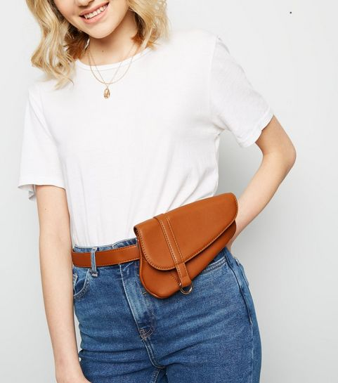 ... Porte-monnaie de ceinture style sacoche marron en similicuir ... 2486aafe7ab