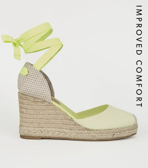070041f6a0a3 ... Light Green Ribbon Ankle Tie Espadrille Wedges ...