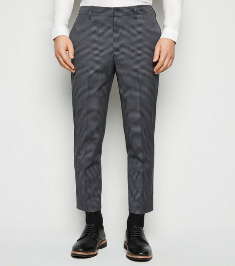 2acb78926a2 ... Dark Grey Check Skinny Crop Trousers ...