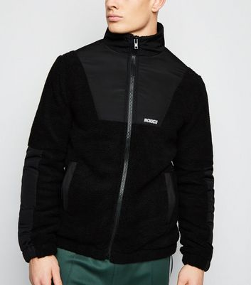 Black Borg Funnel Neck Jacket
