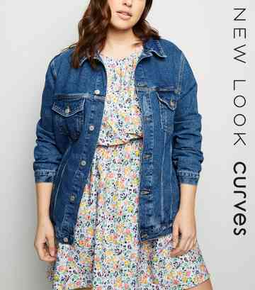 Curves Mid Blue Denim Jacket