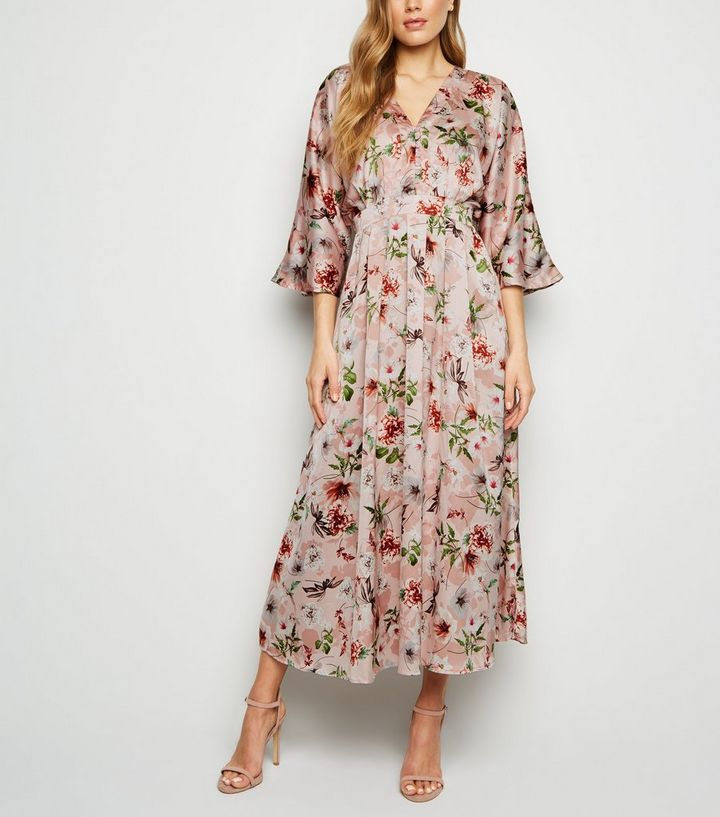 a66012afc8f48 Blue Vanilla Pink Floral Button Kimono Maxi Dress Add to Saved Items Remove  from Saved Items