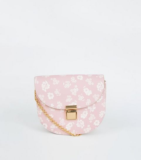... Pink Floral Cross Body Saddle Bag ... 743ecd5c1cee5
