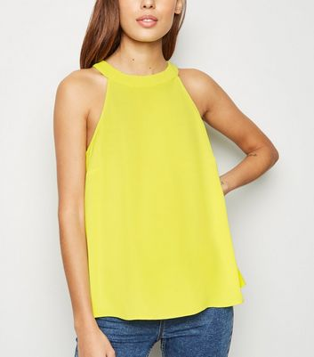 Light Green Neon High Neck Top