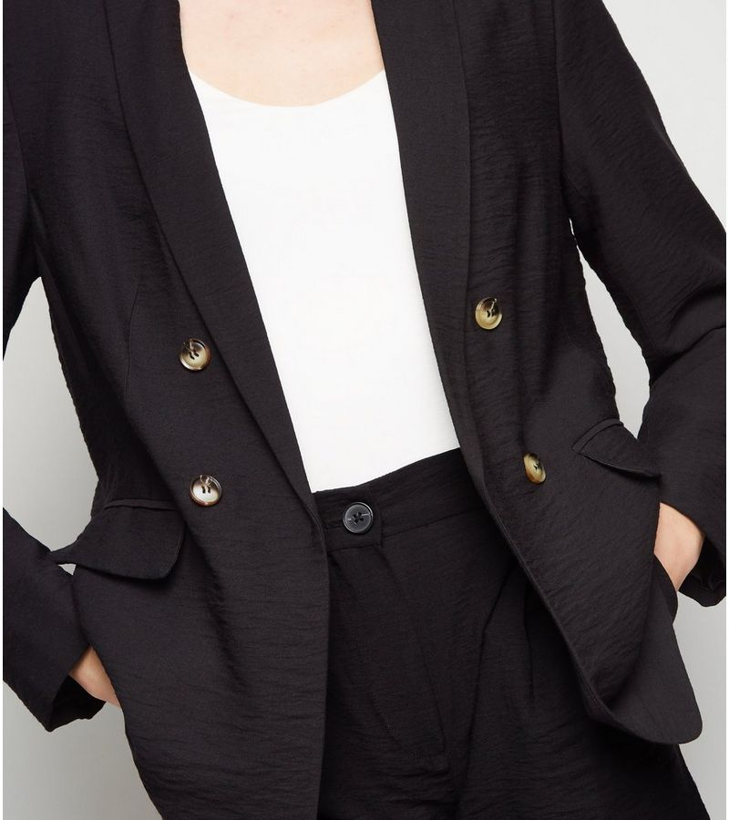 New Look - twill double breasted blazer - 2