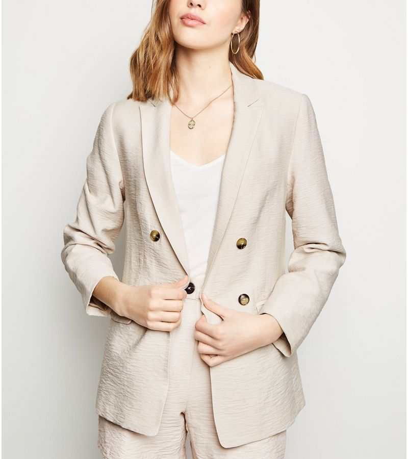 New Look - twill double breasted blazer - 1