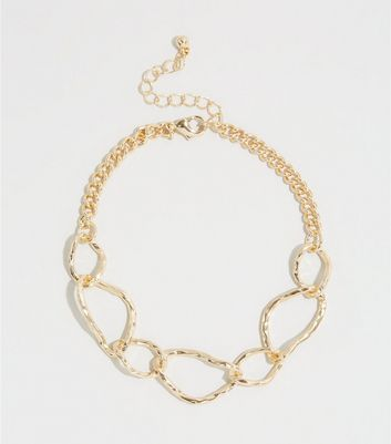Gold Abstract Chain Anklet