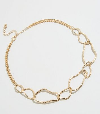Gold Abstract Chain Necklace