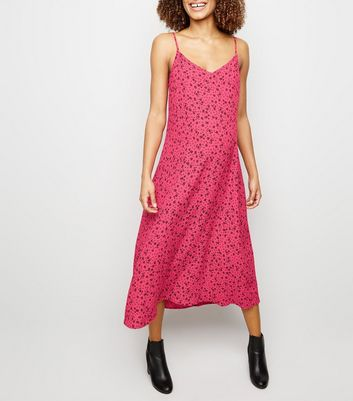 Maternity Pink Ditsy Floral Midi Slip Dress