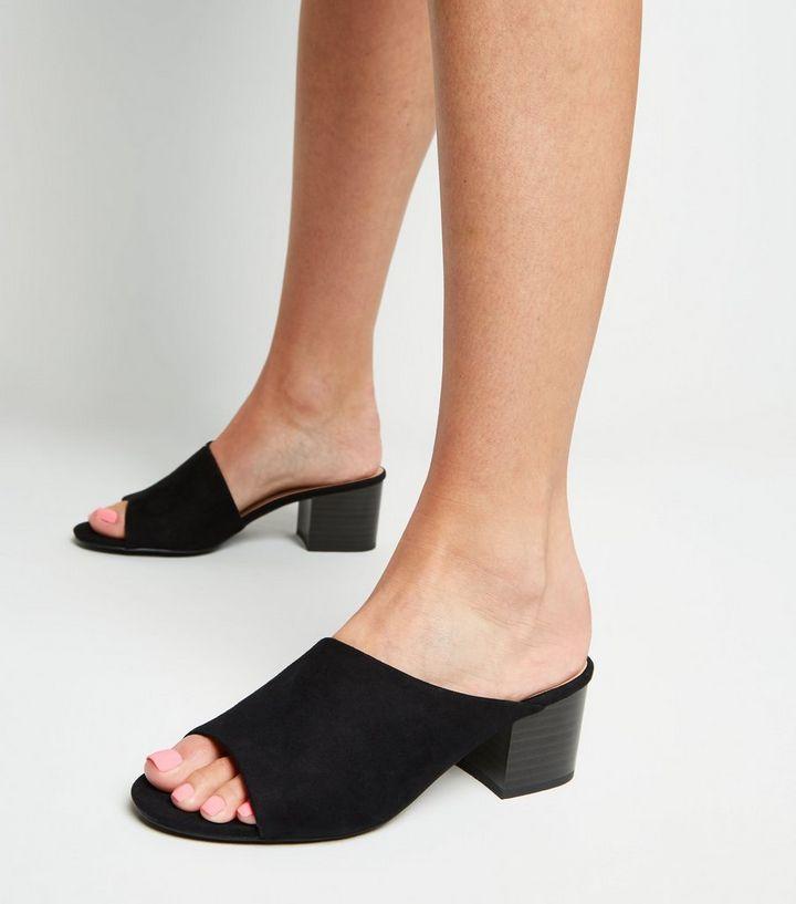9aaf811d3120 ... Black Suedette Asymmetric Strap Mules. ×. ×. ×. Shop the look