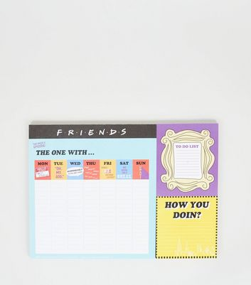Multicoloured Friends Weekly Planner