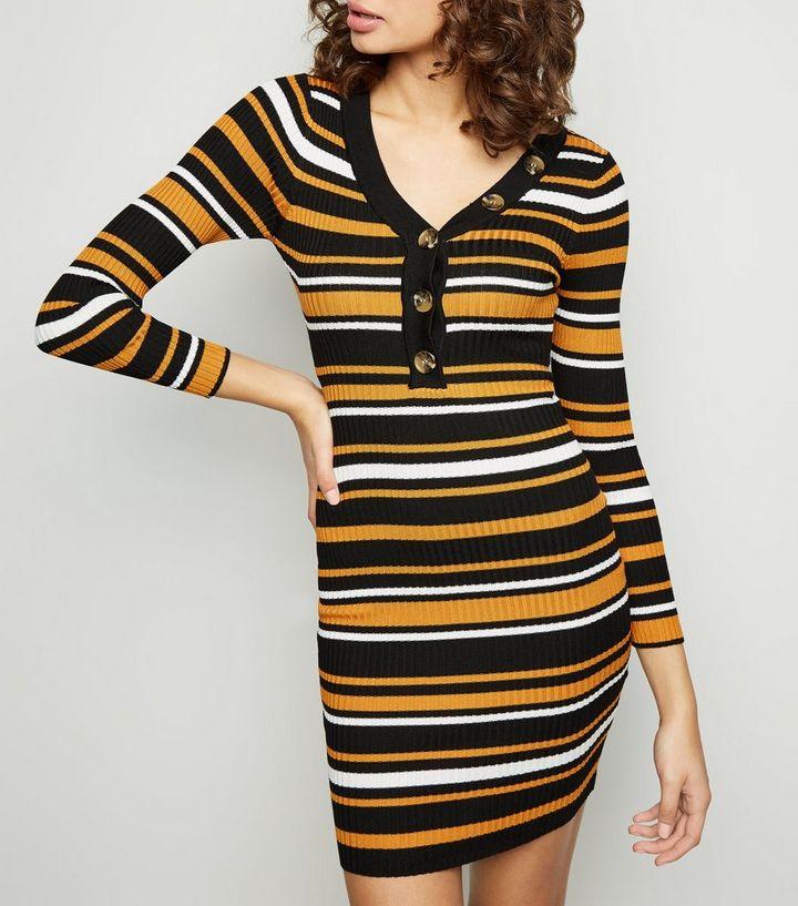 ead39379c9dbe ... Tokyo Doll Orange Stripe Ribbed Mini Dress. ×. ×. ×. Shop the look