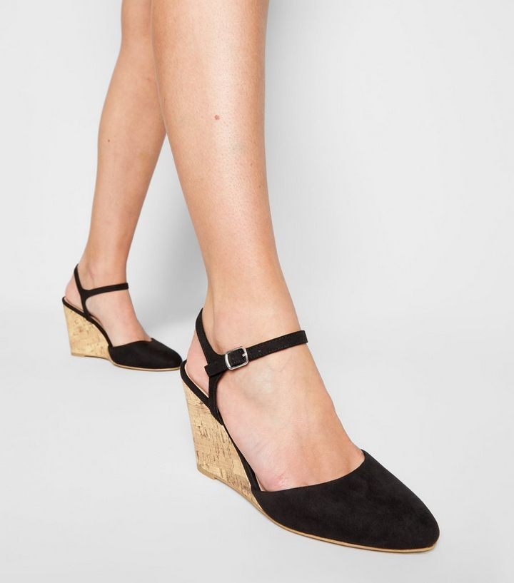 a8a9876f54 ... Shoes · Black Suedette Cork Wedge Courts. ×. ×. ×. Shop the look