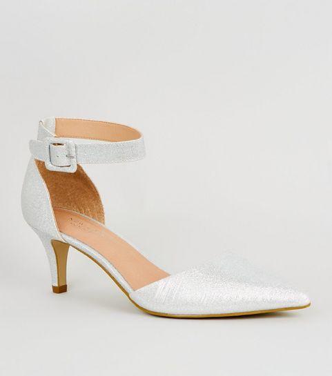278725eb7e3305 ... Silver Comfort Glitter 2 Part Stiletto Heels ...