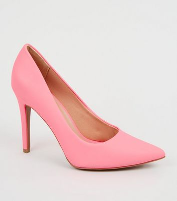 Coral Reflective Pointed Court Shoes