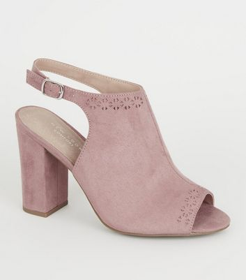 Pink Comfort Flex Patterned Trim Heels