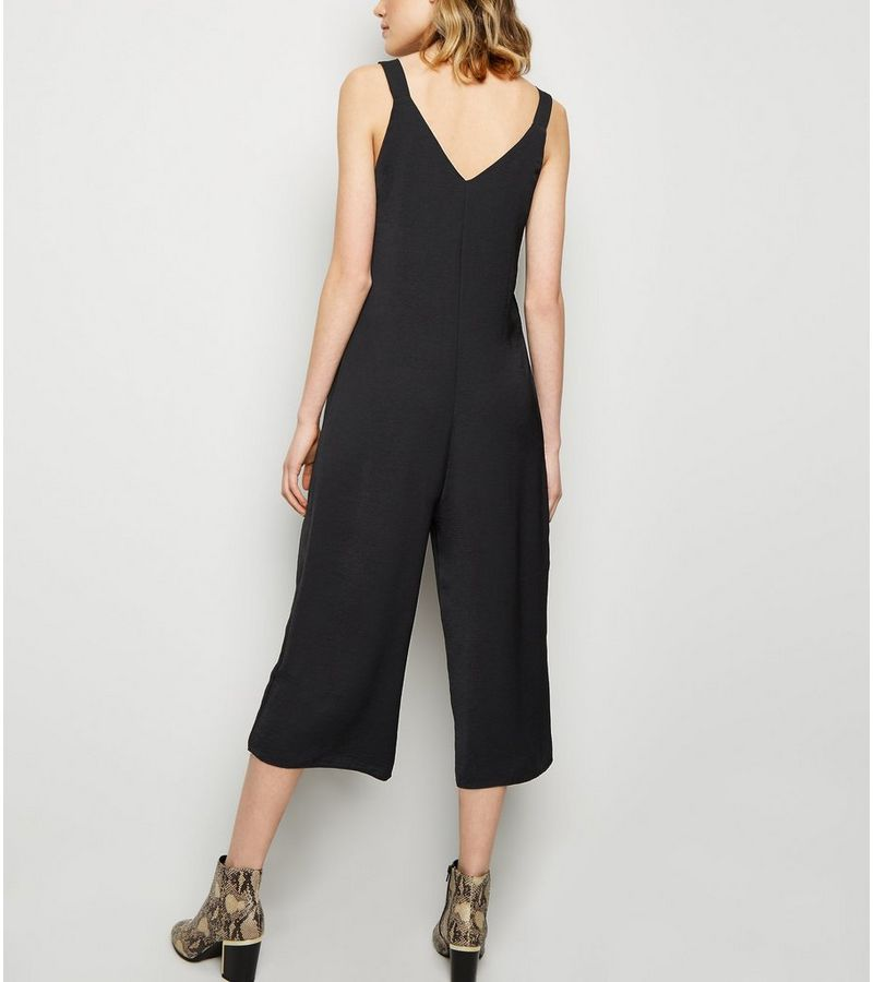 New Look - button side cropped jumpsuit - 5