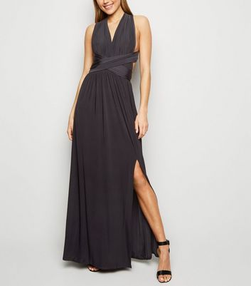 Black Multiway Side Split Maxi Dress