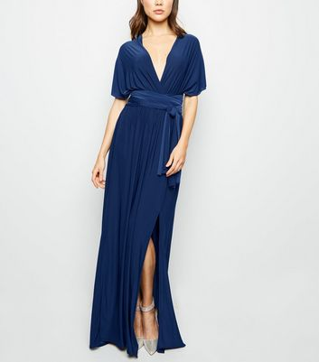 Navy Multiway Side Split Maxi Dress