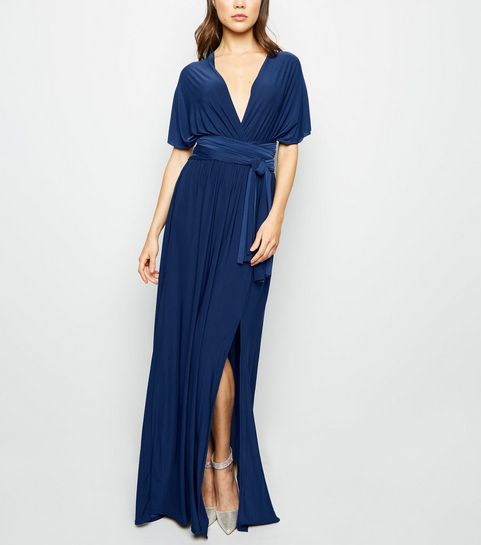 393dd066a83 ... Navy Multiway Side Split Maxi Dress ...