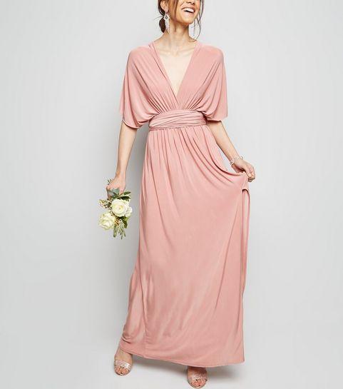 e0a32dfdb649 ... Pale Pink Multiway Side Split Maxi Dress ...