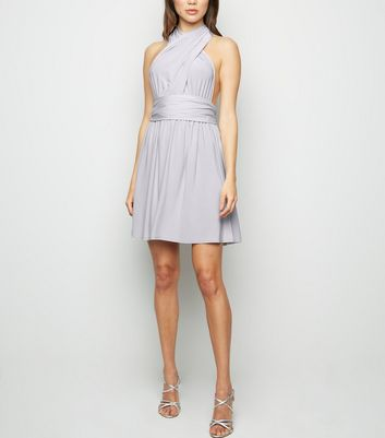 Pale Blue Multiway Mini Dress