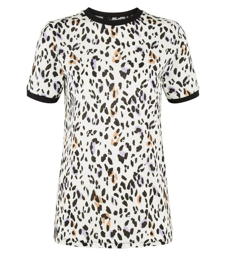d484bd5b74c3 ... Tall White Leopard Print Short Sleeve T-Shirt. ×. ×. ×. Shop the look
