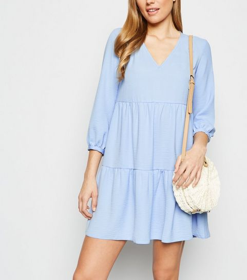 5fc2b31c10c8e Blue Herringbone Smock Dress · Blue Herringbone Smock Dress ...