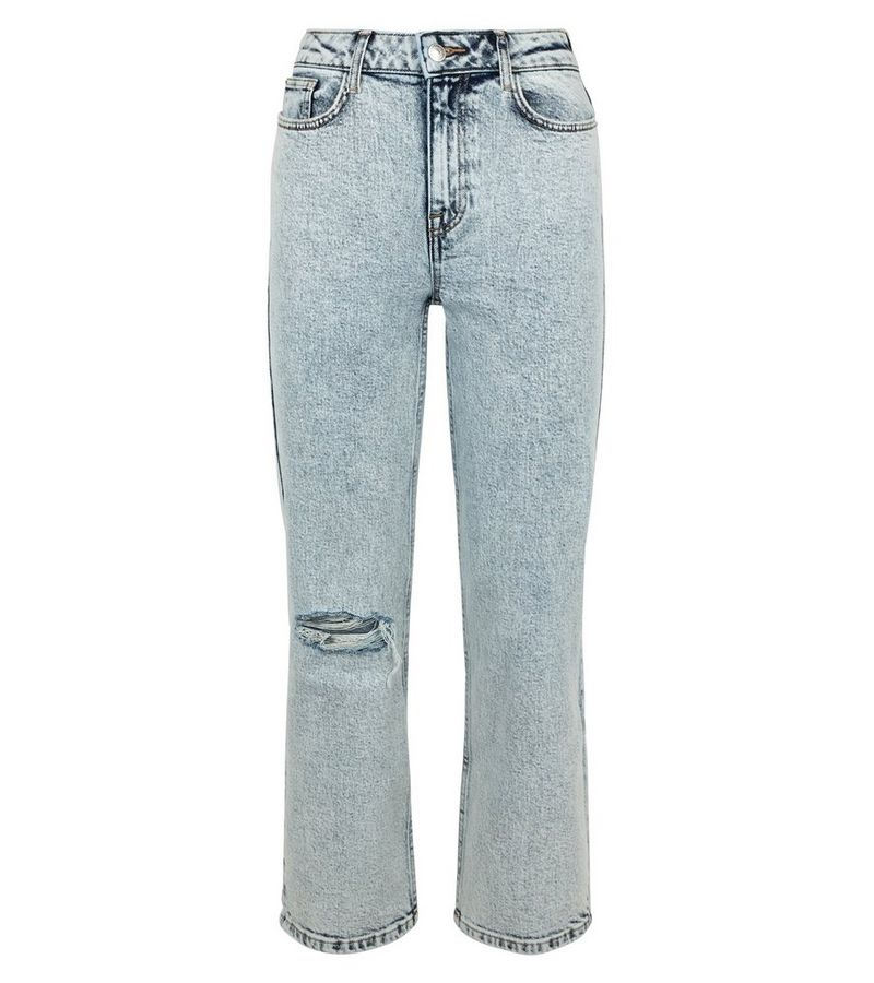 New Look - acid wash straight leg harlow jeans - 2