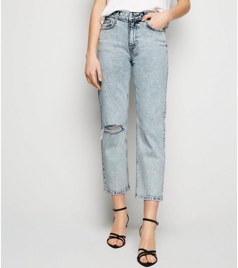 New Look - acid wash straight leg harlow jeans - 3
