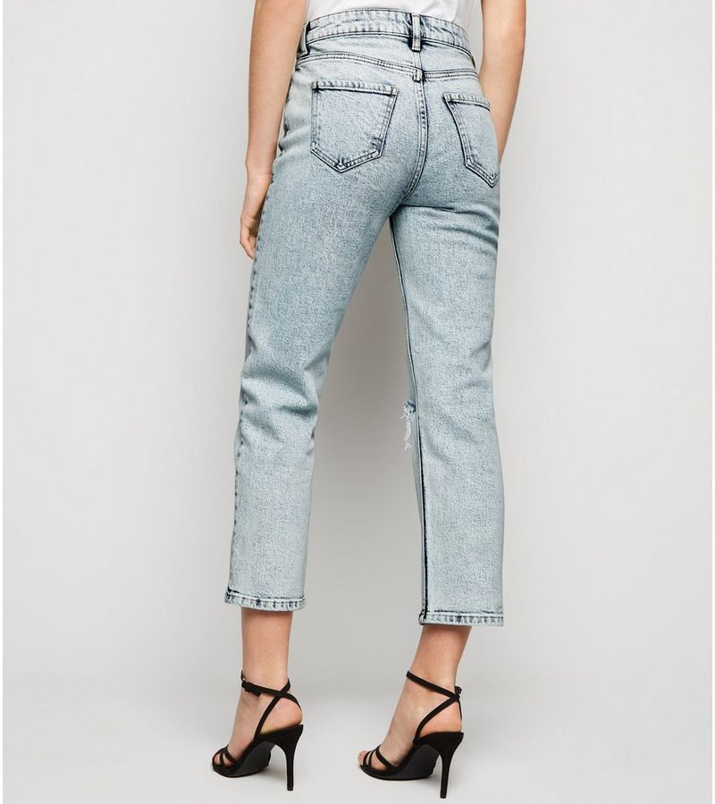 New Look - acid wash straight leg harlow jeans - 5