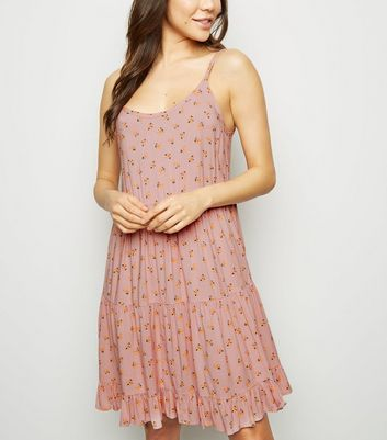 Pink Strappy Sundress Modern Design Clothes, Shoes & Accessories