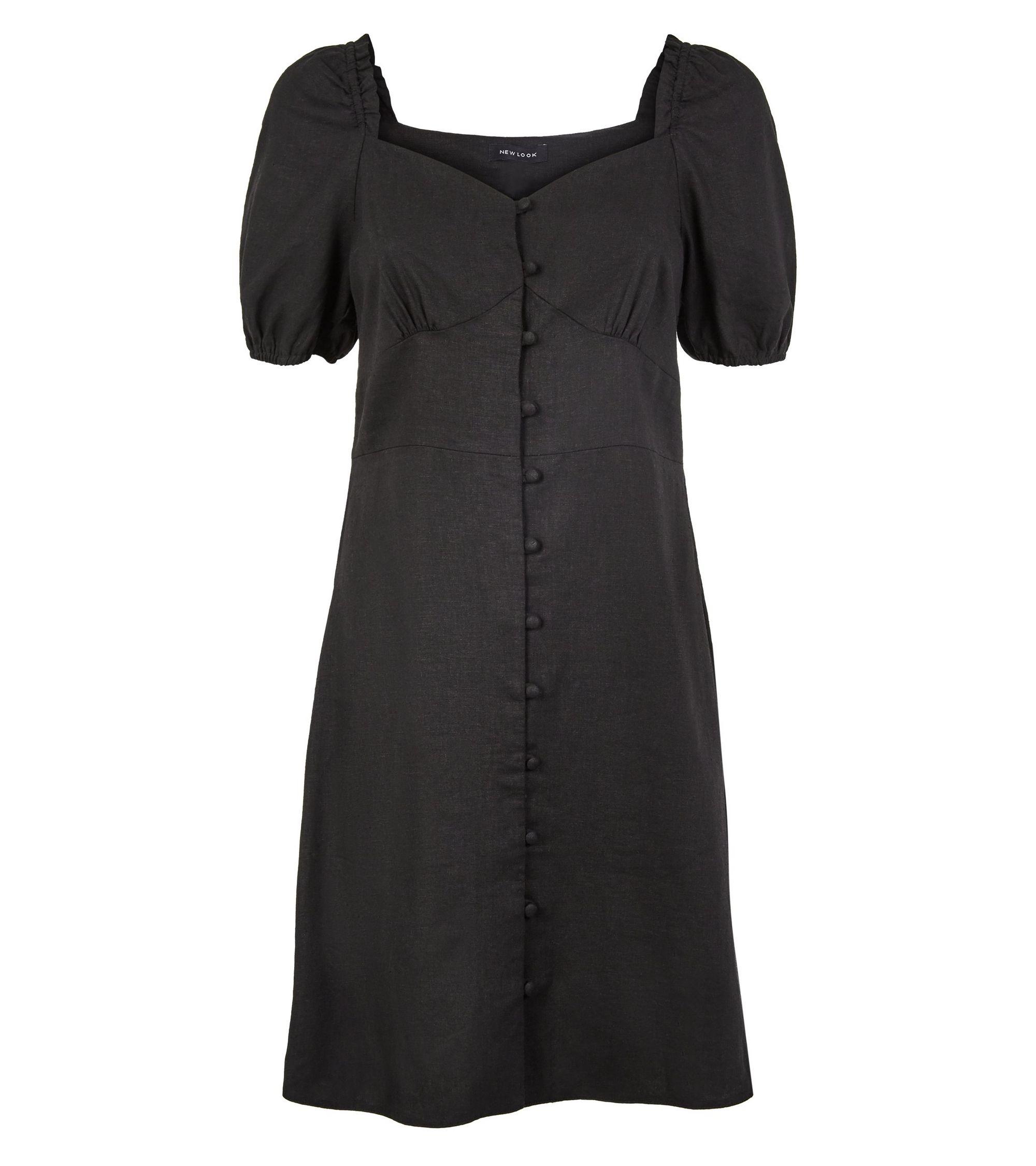 b19901d05a New Look linen blend button up milkmaid dress at £22.99
