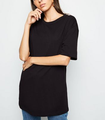 Black Oversized Crew T-Shirt