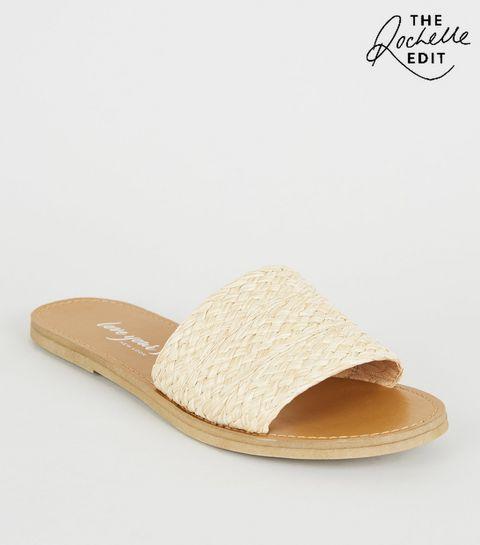 11c210ebee1c Cream Woven Strap Sliders · Cream Woven Strap Sliders ...
