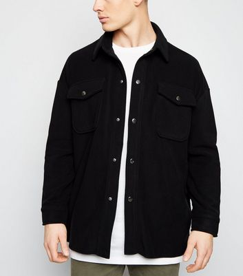 new look herren fleece jacke