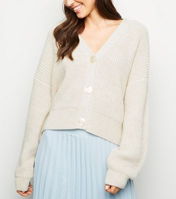 Cream Button Front Cardigan
