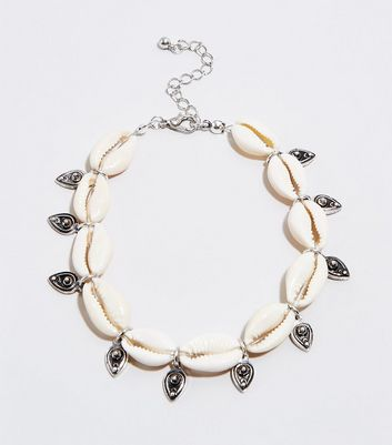 Cream Shell Teardrop Anklet