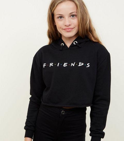 bfaa23c2148b7 ... Girls Black Friends Logo Hoodie ...