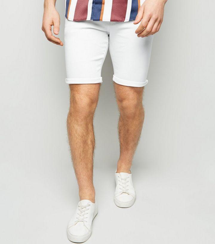0db7906edf White Denim Shorts | New Look