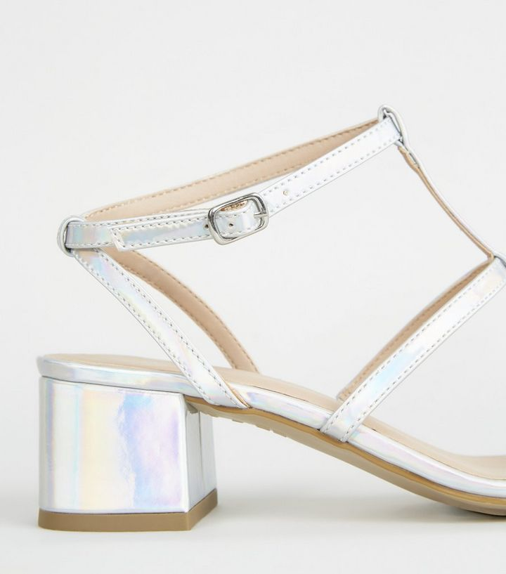 34d56e9d97b ... Girls Silver Holographic Gladiator Block Heels. ×. ×. ×. Shop the look