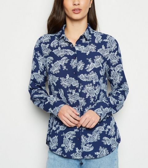 e427f196568 ... Blue Paisley Long Sleeve Shirt ...