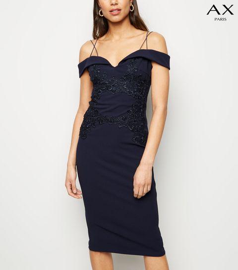 b1fc44f208b2 Navy Dresses | Navy Blue Maxi & Midi Dresses | New Look