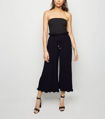 Pink Vanilla Navy Pleated Culottes